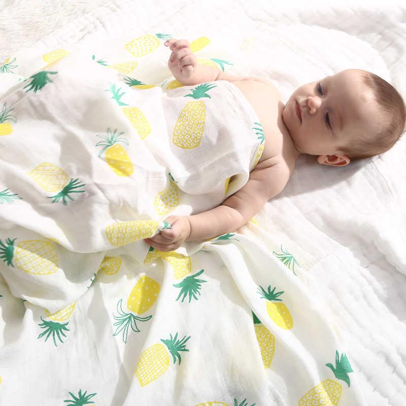Manta para bebé, recién llegado, manta para bebé de muselina con geometría de verano, manta para bebé recién nacido, Toalla de baño para bebé, manta para Envolver al bebé