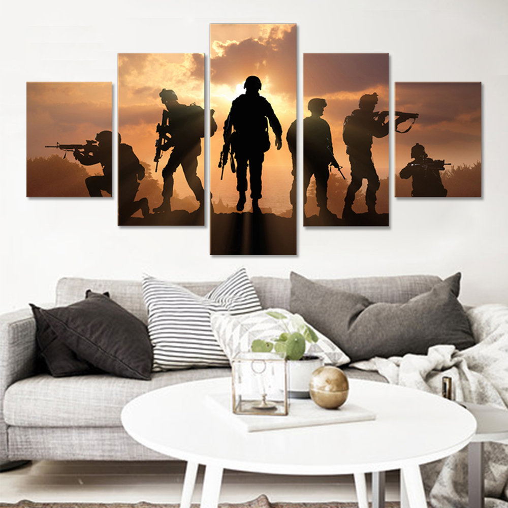 Unframed HD Canvas Prints Soldier Giclee Wall Decor Prints Wall Pictures For Living Room Wall Art Decoration Dropshipping
