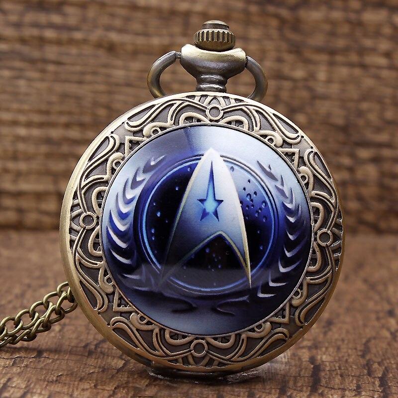 2016 New Arrival Moda Star Trek Theme UFP Logo Brązowy zegarek - Zegarki kieszonkowe - Zdjęcie 1