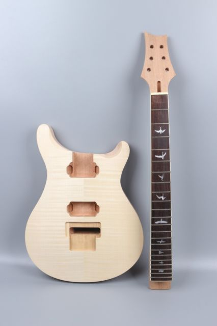 electric guitar body Guitar Neck Flame Maple Bird Inlay guitar parts Yinfente free shipping 2017 new arrival high quality flame maple top g les standard brown electric guitar lp guitar