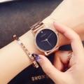 Часы Top Guou  модные женские кварцевые часы с большим циферблатом  водонепроницаемые