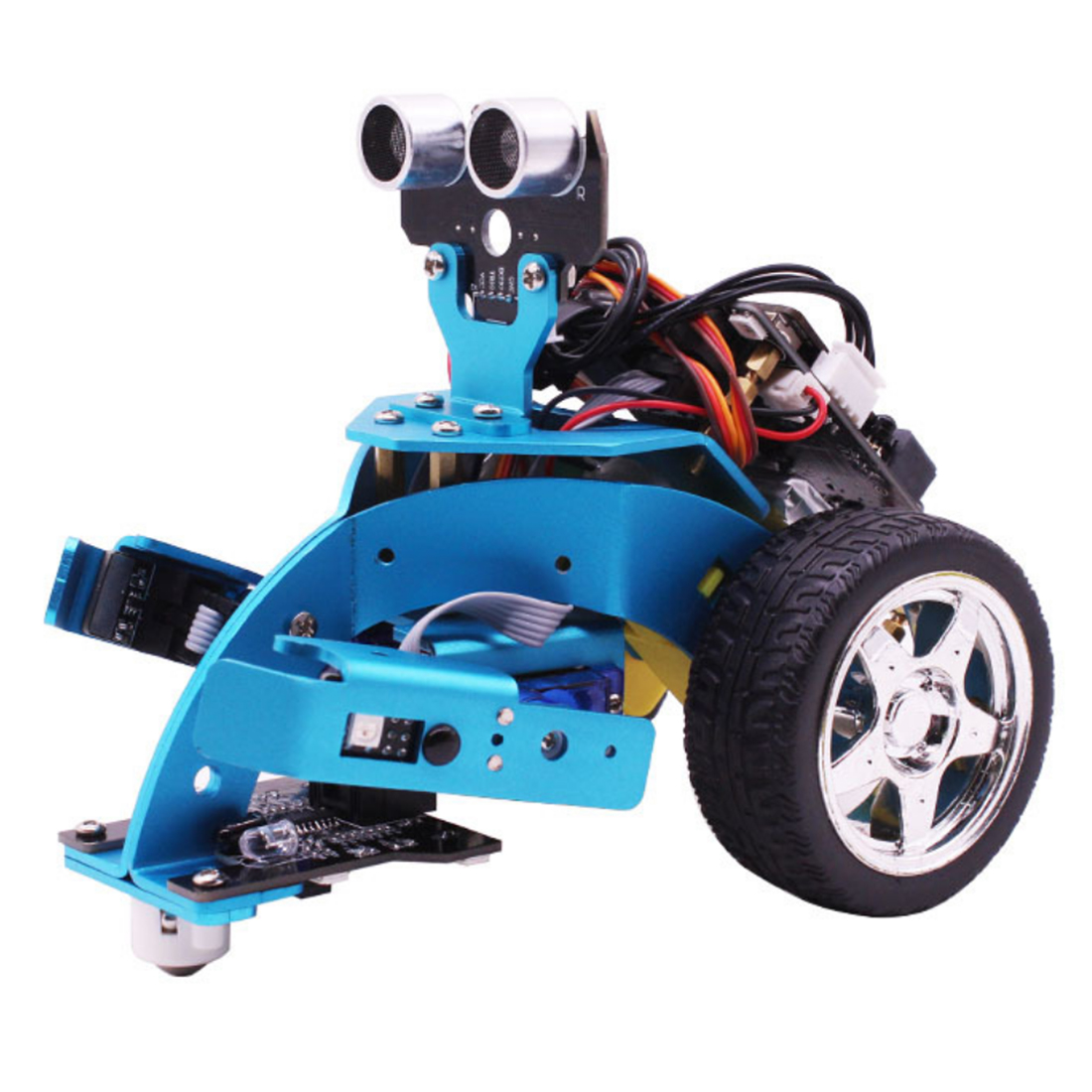 New Hot Toys Kit 3-In-1 Graphical Programmable Robot Car With Bluetooth IR Tracking Module Aluminum Alloy Steam Robot Car Toy