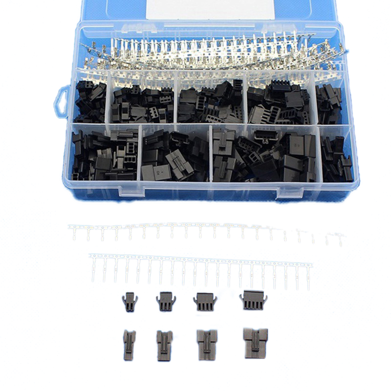 2.5mm Pitch 2 3 4 5 Pin JST SM Connector Male and Female Plug Housing Connector Adaptor Assortment Kit 560Pcs(560Pcs)