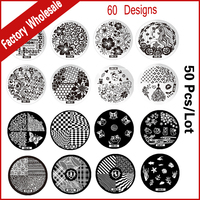 50pcs 30Designs New Nail Art Stamping Image Plates Template Polish Nail Stamp Stencil DIY Beauty Manicure
