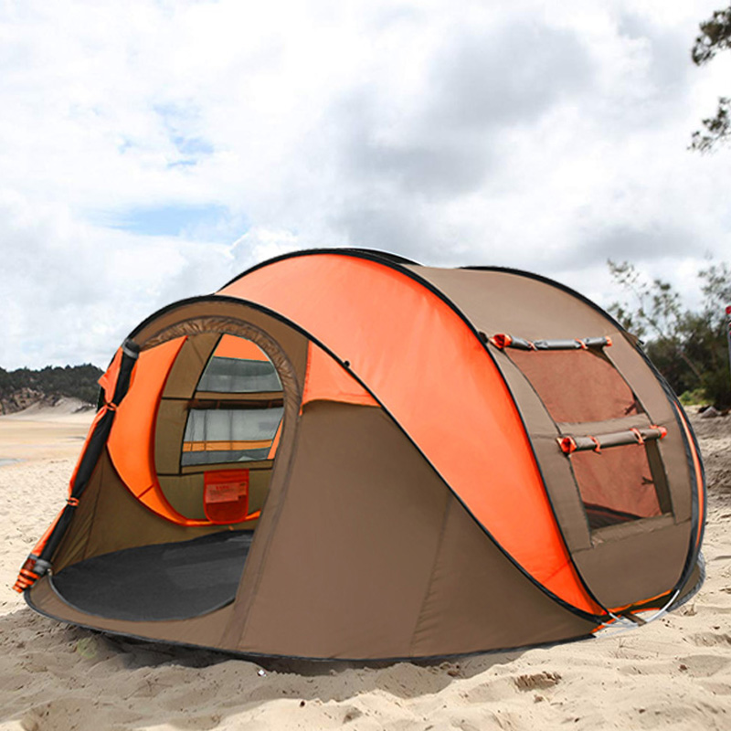 2019 New Outdoor Tent 3 4 Persons Automatic Speed Open Throwing Pop up Beach Tent Windproof