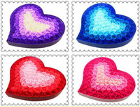 100pcs Body Bath Washing Soap Heart Shape Rose Flowers Head For Wedding Party Gift Favor Home