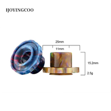 Electronic cigarette High Quality Epoxy resin drip tips stainless steel top cap for Cleito 120 atomizer
