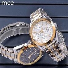 MCE Marca de lujo de Moda Los Hombres Mismo-viento Automático Relojes Mecánicos Relogios masculino impermeable Del Reloj de Los Hombres Con la caja de regalo 2016