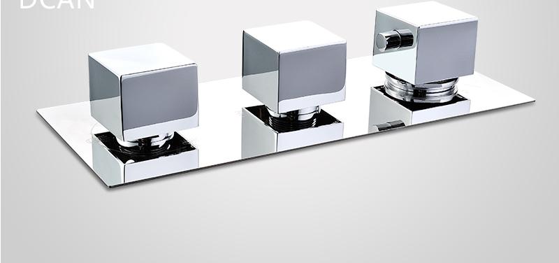 DCAN Bathroom Thermostatic Mixer Valve Brass Chrome Finish Shower Faucet Mixer Valve 3-4 Ways Faucet Bath Faucet Accessories (19)