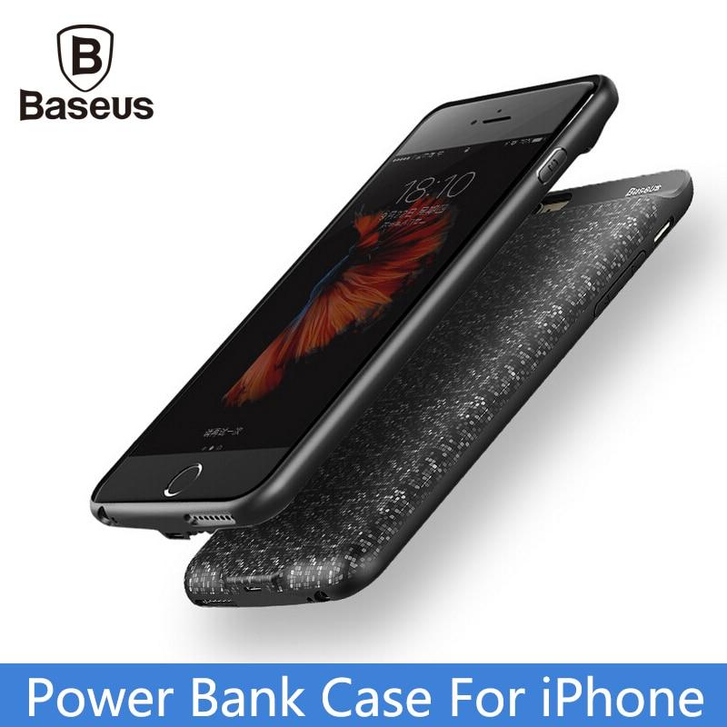 imágenes para De Baseus 2500/3650 mAh Banco Portable de la Energía Para el iphone 6 6 S 7 Plus Paquete Externo de La Batería de Copia de seguridad PowerBank cargador de Batería Caso