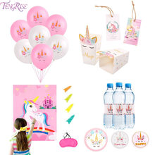 FENGRISE Unicorn Party Baby Shower Girl Unicornio Fiesta Unicorn Birthday Party Decoration Unicornio Party Supplies Gifts Kids(China)