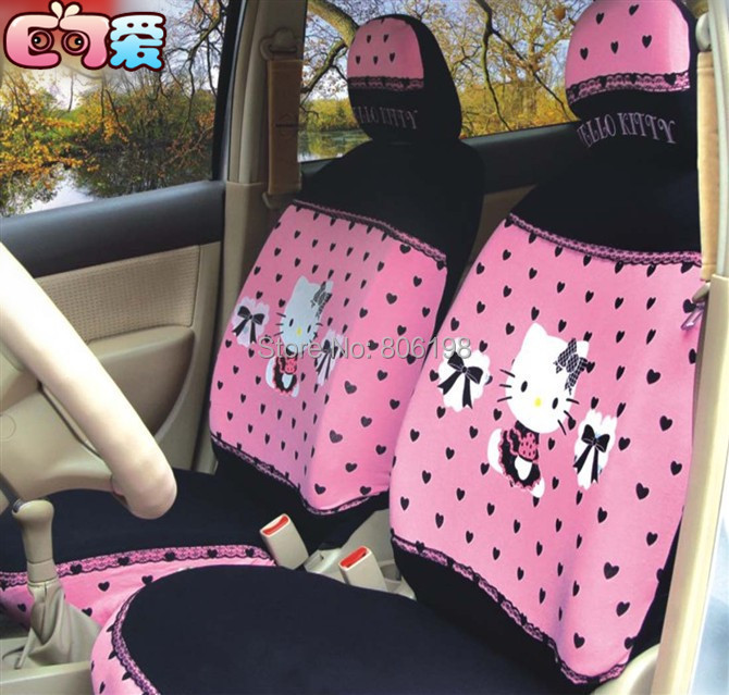 New 1Pink Hello Kitty UNIVERSAL Car Seat Covers Front Cover 4 Seasons - Shenzhen Zhijutianxia Technology Co.,Ltd store
