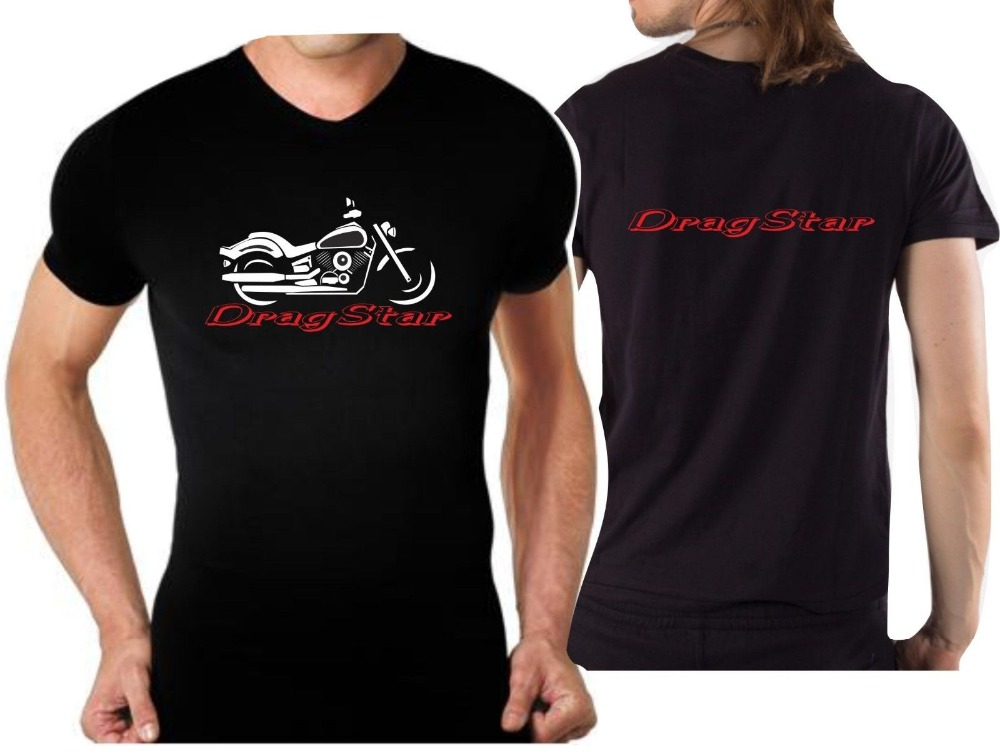 New 2019 T-shirt for Biker Classic Japanese Motorcycle Fans DragStar Tshirt Drag Star Motorcycle Moto 100% Cotton for Man Shirts