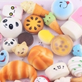XRNT 12pcs/lot Random Sent Kawaii Squishies Lots Cupcakes Panda Bun Toasts Multi Donuts