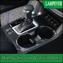 Fit For Toyota Highlander 2015 2016 2017 LHD ABS Cup Drink Holder Gear Shift Panel Cover Trim Frame Garnish Molding Car styling