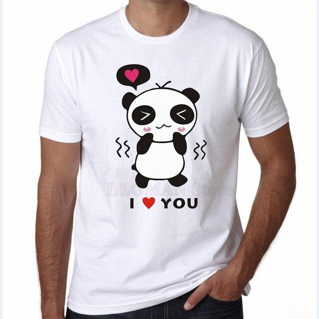 LEOMAN Valentine Shirts Mr Mrs Short Sleeve T Shirts For Couples Cute  Couple Panda Printed Basic