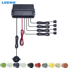 LEEWA Auto samochód 4 czujniki Auto czujnik parkowania rewers Backup Alarm dźwiękowy Radar głośnik czujnik parkowania # CA896