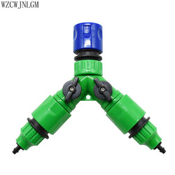 Do nawadniania ogrodu Y typu 2 Way złącze kranu Adapter ogród kran wąż dozownik zestaw adapterów 1 zestaw w Złącza ogrodowe do wody od Dom i ogród na