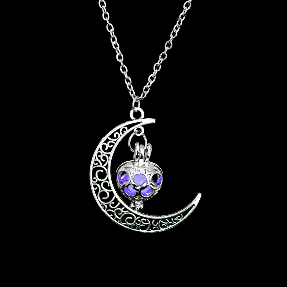 Vienkim Neo-Gothic Luminous Pendant Necklace Women Charm Moon In The Dark Glowing Stone Necklaces For Jewelry Christmas Gifts 19
