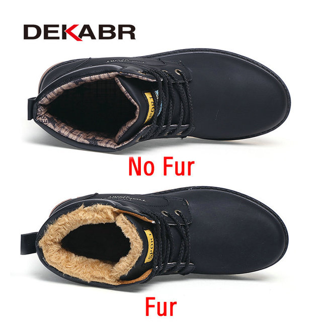 DEKABR Brand Hot Newest Keep Warm Winter Boots Men High Quality pu Leather Wear Resisting Casual Shoes Working Fashion Men Boots 1