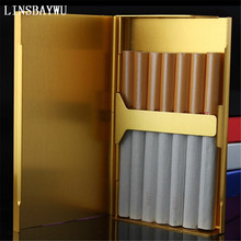 Ultra Thin Fashion Pipe Creative Personality Cigarette Case Slim Metal