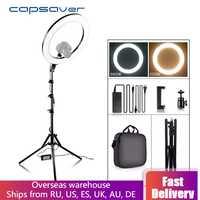 """Capsaver RL-18A LED anneau lumière bicolore 3200 K-5500 K CRI90 55W 512 LED s 18 """"photographie éclairage LED anneau lampe pour vidéo YouTube"""