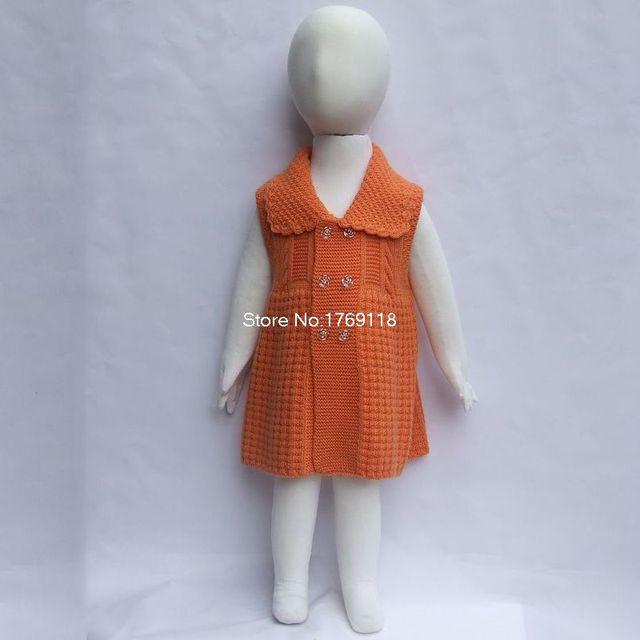 cb4295a16 autumn winter girl dress vest wool baby sweater dress girls clothing ...