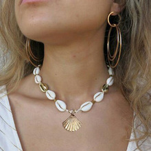 Gold Silver Color Sea Shell Choker Necklace Handmade Adjustable Friendship Bohemia for Women Summer Jewelry