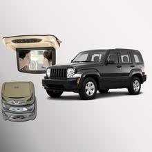 Bigbigroad для Jeep Liberty крыше автомобиля установлен в автомобиль светодиодный цифровой Экран Поддержка HDMI USB FM ТВ игры ИК удаленного флип Подпушка DVD