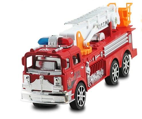 Inertia fire elevator Simulation fire truck model ladder car Child fire truck model toy big size vehicle toys