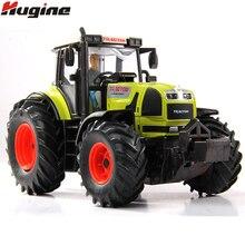 Трактор Модель фермер автомобиль игрушка сплав Выдвижной назад с огнями и музыкой Транспорт сплав модель автомобиля Рождественский подарок игрушки для детей