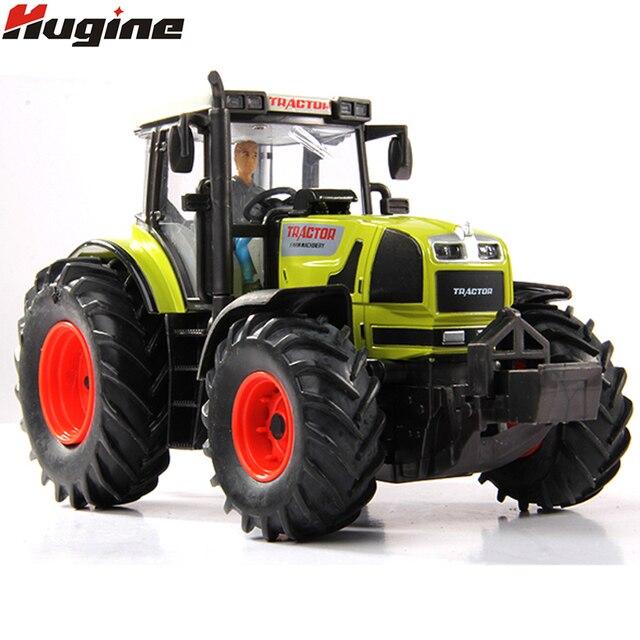 Model Traktor Petani Mobil Mainan Paduan Baru Tarik Kembali dengan Lampu & Transportasi Musik Paduan Model Mobil Natal Hadiah Mainan untuk Anak-anak