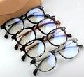 Marca Homens Mulheres Vidros Ópticos Quadro Retro Rodada óculos de Armação de Acetato de Full-aro Quadros de Óculos Primavera Perna Oculos de grau frete Grátis
