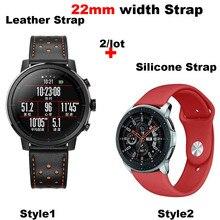 Купить с кэшбэком Leather Bracelet Band 22MM Men Women Smart Watch Pulsera Correa Watchband Silicone Wrist Strap Quick Release Watch Accessories