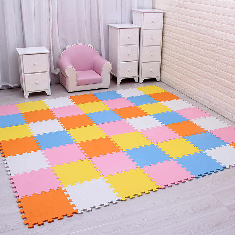 Eva Foam Kids Play Puzzle Multicolour Floor Mat Traffic Folding Bricks 30x30cm