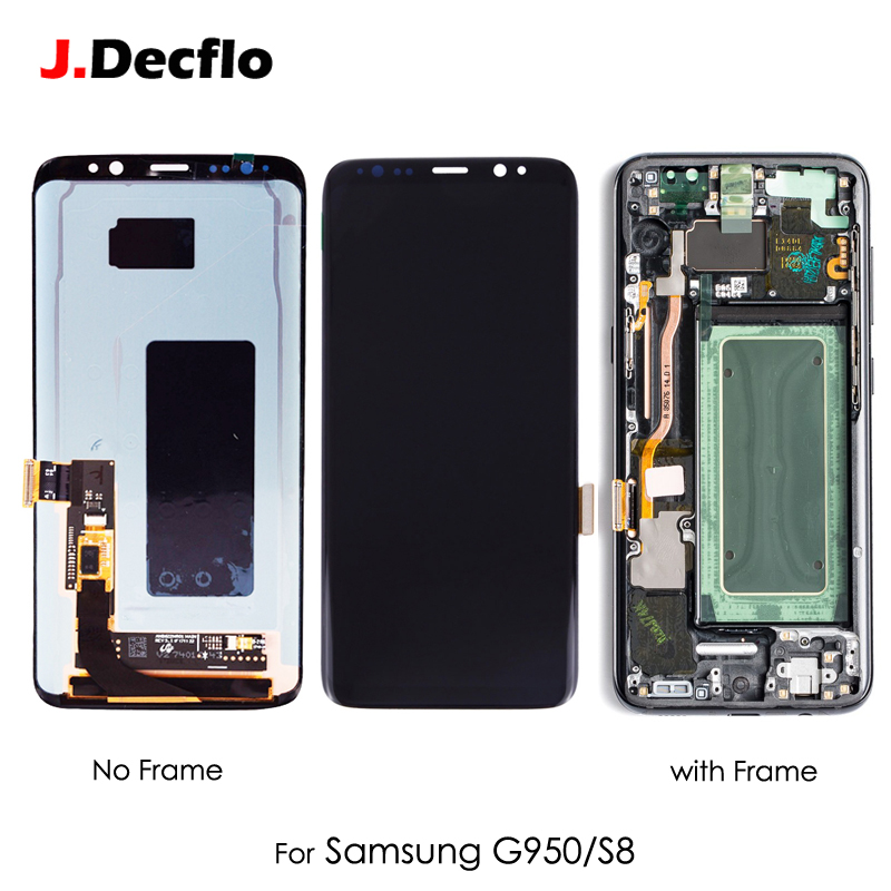 Original Super AMOLED OLED Für Samsung Galaxy S8 G9500 SM-G950U LCD Display Touchscreen Digitizer Montage Ersatz