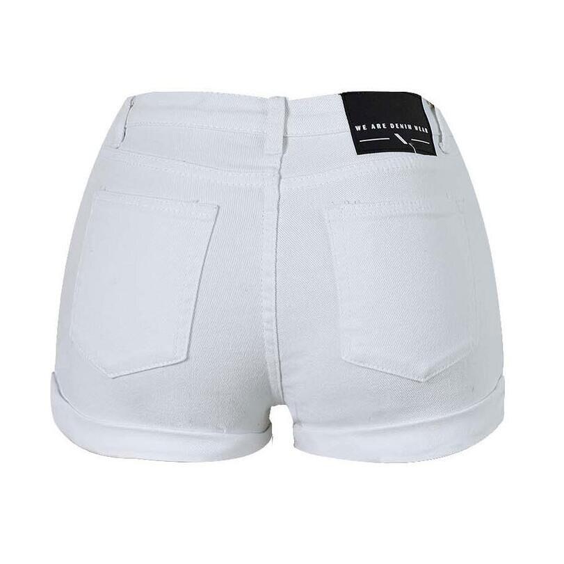 ChoosyVirgo Ladies summer high waist fashion denim shorts white ...