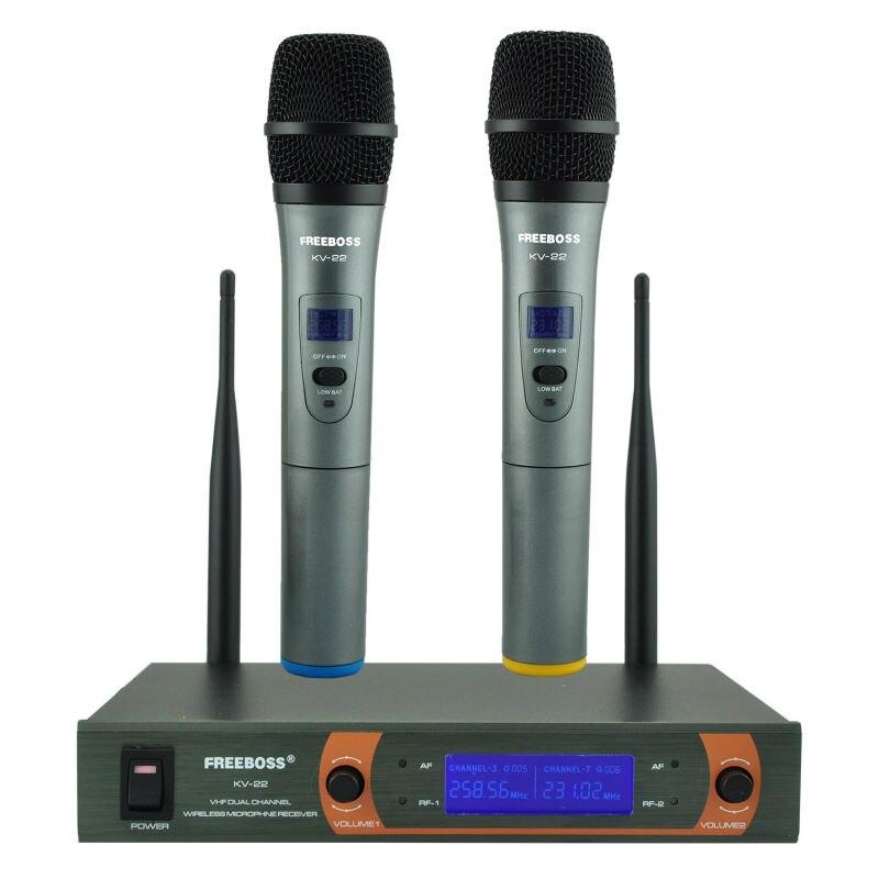 Prix pour Freeboss KV-22 VHF 2 De Poche Sans Fil Microphone Dynamique Capsule Famille Parti Mixte Sortie Sans Fil Microphone
