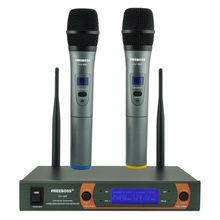 Freeboss KV-22 VHF 2 Wireless Handheld Mikrofon Dynamiczny Kapsułka Strony Rodziny Mieszane Wyjście Mikrofon Bezprzewodowy