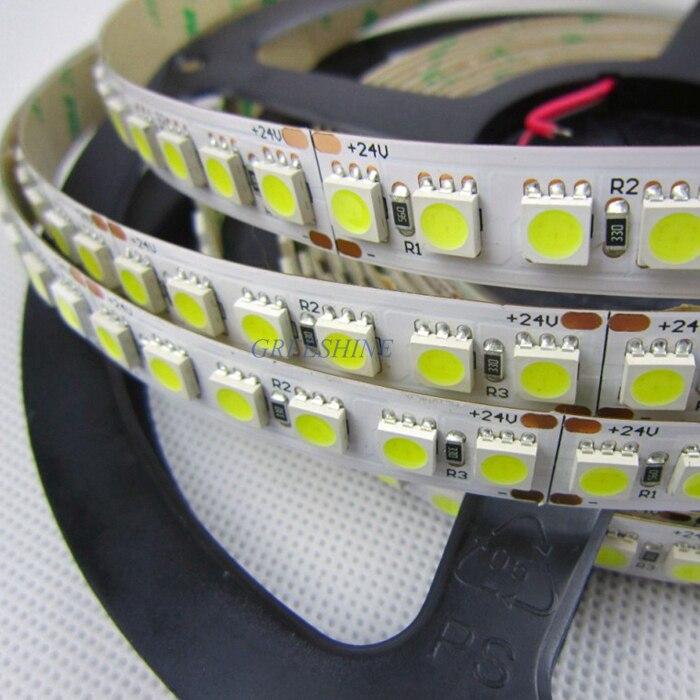 Super Bright 28.8W/M 5050 led strip warm white 120leds/M Single Row LED tape RGB Flexible led light 100M/lot DHL Free shipping