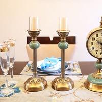 2 шт./компл. Европа лед трещины подсвечник высокое качество ретро металлический подсвечник Романтический свадебный стол центральные