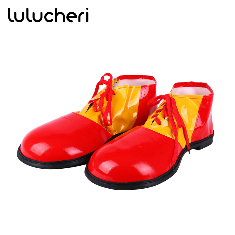 Stephen King's It Cosplay Shoes Funny Clown PU Leather Costume Accessories For Adults Men Women Halloween Carnival Party Props