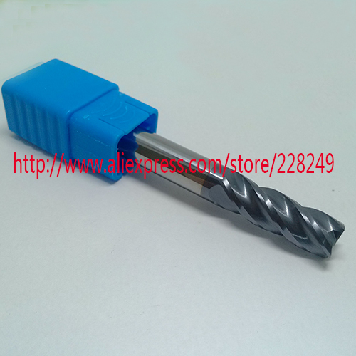 1pc D12*30*D12*75 HRC45 4 Flutes Flat Square Tungsten Solide Carbide End Mills For CNC Milling Tools
