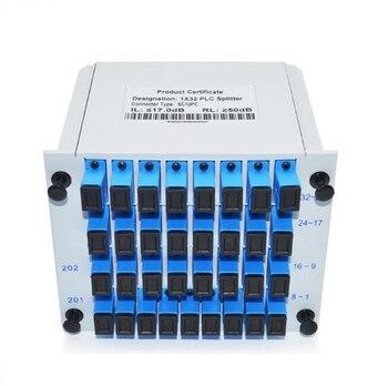 PLC 1X32 Single mode splitter Fiber Optical Box 1x32 PLC Splitter box FTTH PLC Splitter 1x32 with SC/UPC connector ftth 1 32 cassete splitter 2 0mm 1m with sc lc fc st connector plc splitter for gpon epon olt onu