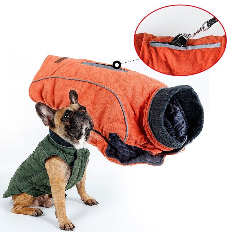 New Winter Coat Retro Design Cozy Winter Dog Pet Jacket Vest Warm Pet Outfit Clothes Dor Dogs 6 Colors
