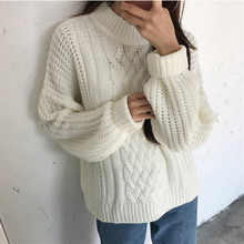 2017 Autumn Winter Women's Sweater Sexy Long Lantern Sleeve O-Neck Pullovers Fashion Women's Sweaters Women Clothing XG012