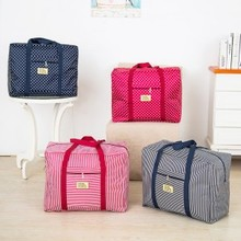 Fashion Oxford cloth travel moving bag clothes quilt storage free shipping