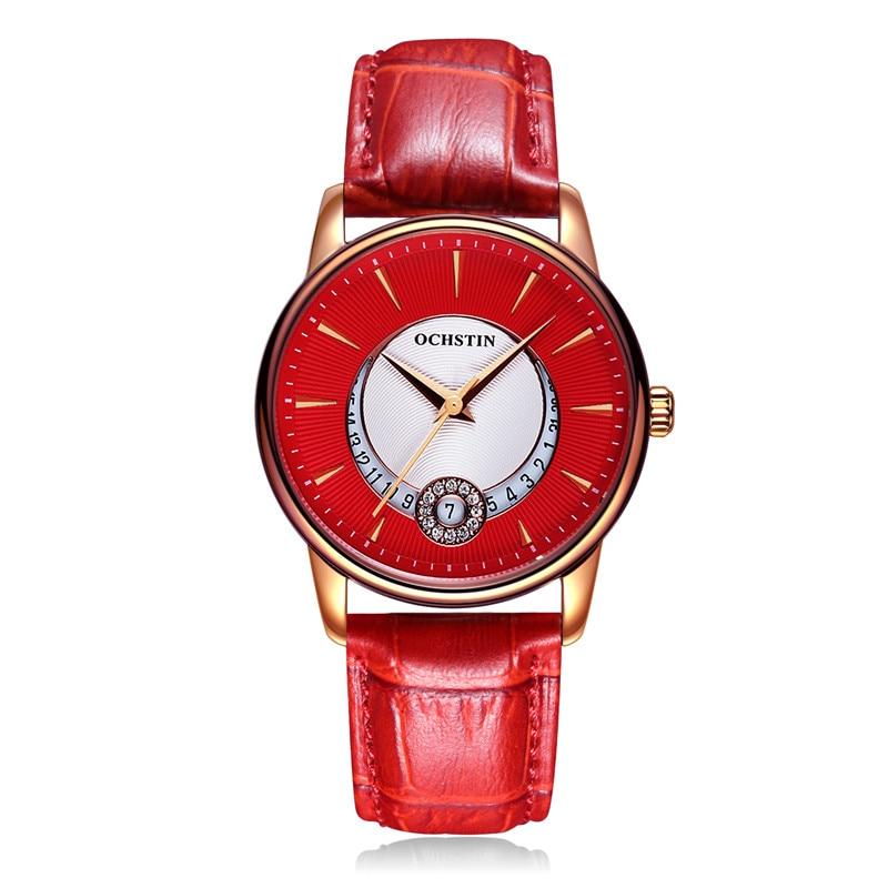 ФОТО OCHSTIN Most Popular Womens Watches Luxury Leather Watch The Diamond Encrusted Luminous Dial Fashion Cute Student Quartz Watch