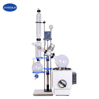 Lab RE1002 Crystallizer Equipment Rotary Evaporator 10L with Manual Lift For Lab Supplies Medical Plant hemp
