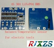 4 s 30a lifepo4 bms/pcmバッテリー保護ボード用電動工具18650バッテリーセルw/バランスワット/温度センサー